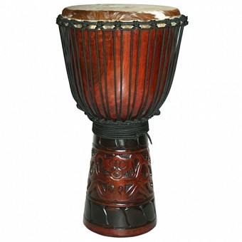 "World Tribal African Djembe, 19-20"" Tall x 10-11"" Head"