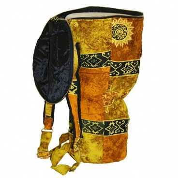 Djembe Drum Backpack, Gold Celestial Design, Large