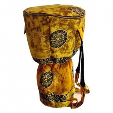 Djembe Drum Backpack, Gold Celestial Design, XL
