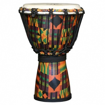 "Kente Cloth Royal Djembe, 7"" Head"