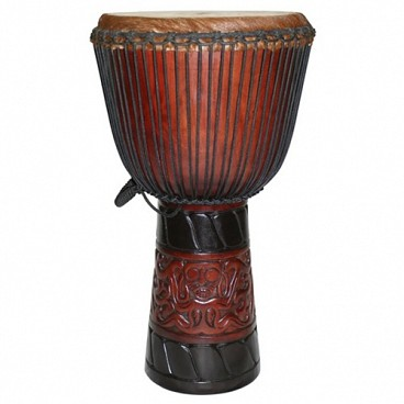 "World Tribal African Djembe, 25-26"" Tall x 13-14"" Head"