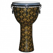 "African Gold Key Tuned Djembe w/ 14"" Synthetic Head With Bag"