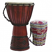"Celtic Labyrinth Djembe 9"" Head w/ FREE Tote Bag"