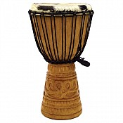 "Deep Carve African Djembe, 19-20"" Tall x 10-11"" Head"