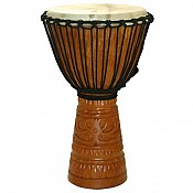 "Deep Carve African Djembe, 26"" Tall x 13"" Head"