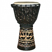 "Deep Carve African Djembe, Antique Chocolate 10-11"" Head"