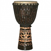 "Deep Carve African Djembe, Antique Chocolate 11-12"" Head"