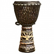 "Deep Carve African Djembe, Antique Chocolate 13-14"" Head"