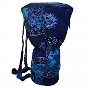 Djembe Drum Backpack, Blue Celestial Design, XXL