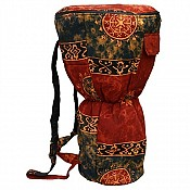 Djembe Drum Backpack, Chocolate Celestial Design, XXL